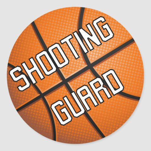 Shooting Guard Basketball Round Stickers