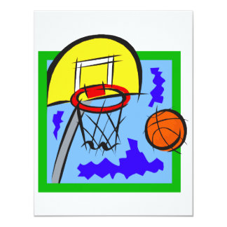 Shooting Hoops 4.25x5.5 Paper Invitation Card