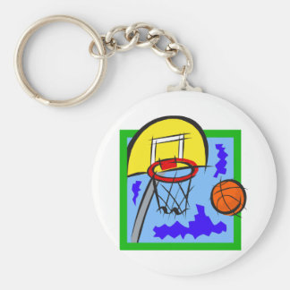 Shooting Hoops Keychain