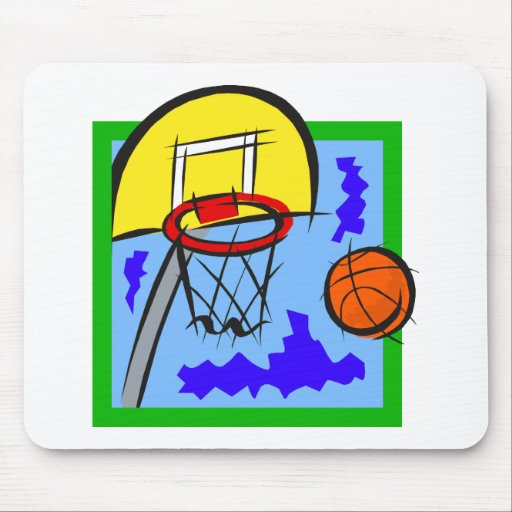 Shooting Hoops Mouse Pad