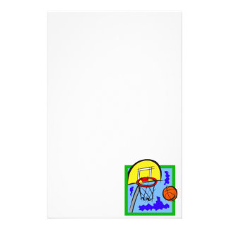 Shooting Hoops Stationery Paper
