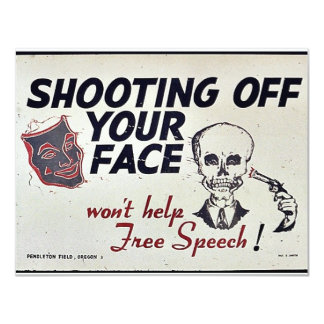 "Shooting Off Your Face 4.25"" X 5.5"" Invitation Card"