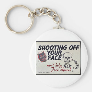 Shooting Off Your Face Keychain