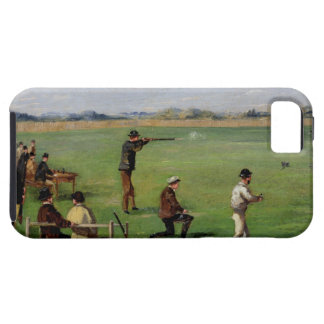Shooting (oil on paper) iPhone 5 cases