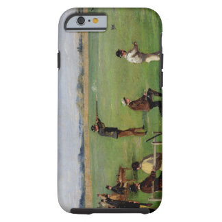 Shooting (oil on paper) tough iPhone 6 case