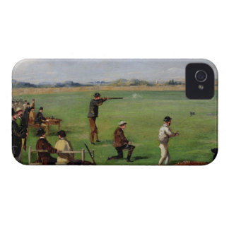 Shooting (oil on paper) iPhone 4 Case-Mate case