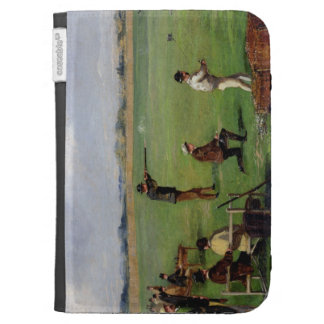 Shooting (oil on paper) kindle cases