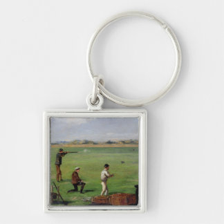 Shooting (oil on paper) key chains