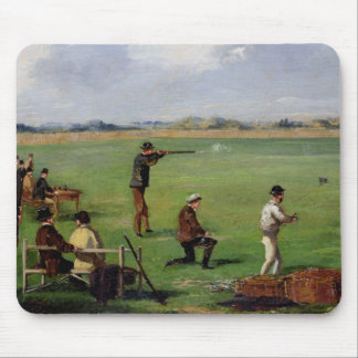 Shooting (oil on paper) mouse pad