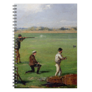 Shooting (oil on paper) note books