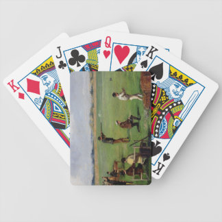 Shooting (oil on paper) playing cards