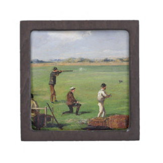 Shooting (oil on paper) premium trinket boxes