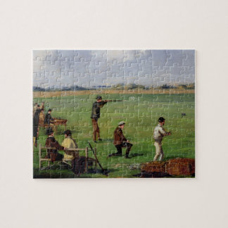 Shooting (oil on paper) jigsaw puzzle