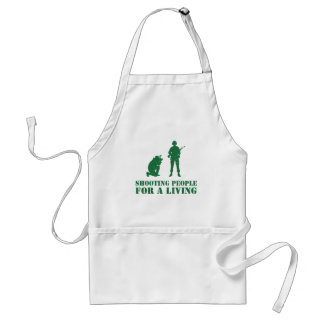 Shooting people for a living adult apron