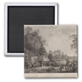 Shooting, plate 1, engraved by William Woollett (1 2 Inch Square Magnet