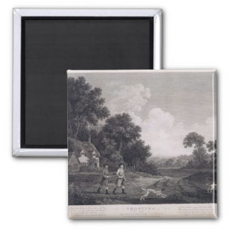 Shooting, plate 2, engraved by William Woollett (1 2 Inch Square Magnet