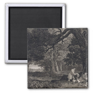Shooting, plate 4, engraved by William Woollett (1 2 Inch Square Magnet
