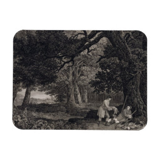 Shooting, plate 4, engraved by William Woollett (1 Rectangular Photo Magnet