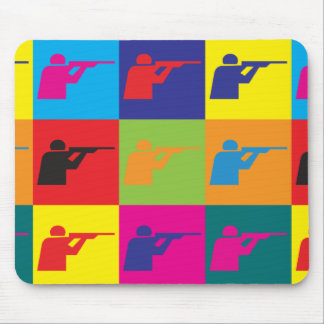Shooting Pop Art Mouse Pad