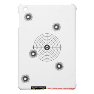 Shooting practice bullet holes bullets guns target cover for the iPad mini