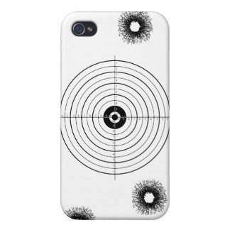 Shooting practice bullet holes bullets guns target iPhone 4/4S case