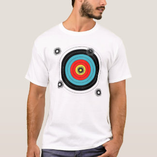 Shooting practice bullet holes bullets guns target T-Shirt