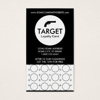 shooting range target stamp card