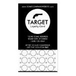 shooting range target stamp card business card template