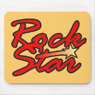 Shooting Rock Star Mouse Pad