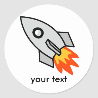 Shooting rocket Gifts Classic Round Sticker