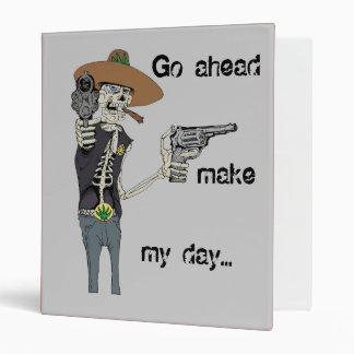 Shooting Skeleton Back to School Binder