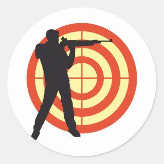 shooting sport classic round sticker