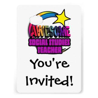 Shooting Star  Awesome Social Studies Teacher Invitations