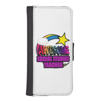 Shooting Star  Awesome Social Studies Teacher iPhone 5 Wallets