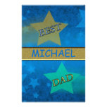 Shooting Star Best Dad Personalized Stationery