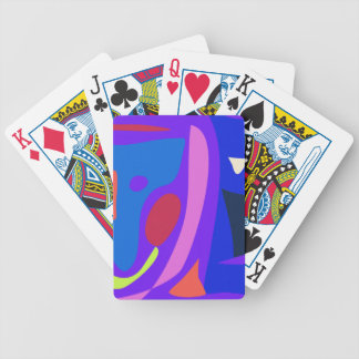 Shooting Star Blue Bicycle Poker Cards