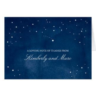 Shooting Star Blue Watercolor | Wedding Card