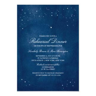 Shooting Star Blue Watercolor | Wedding Rehearsal Card