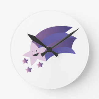 Shooting Star Round Wall Clock
