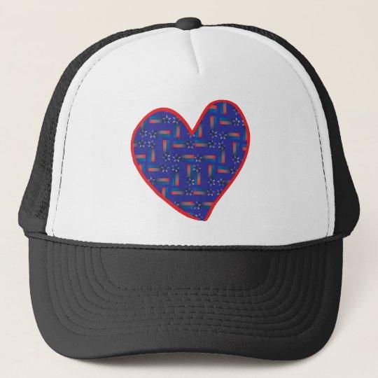 Shooting-Star-Heart Trucker Hat