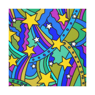 Shooting Star Hippie Pattern Canvas Print
