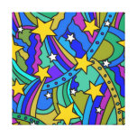 Shooting Star Hippie Pattern Canvas Prints