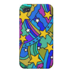 Shooting Star Hippie Pattern Case For iPhone 4