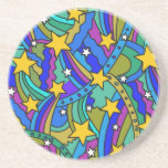 Shooting Star Hippie Pattern Coaster