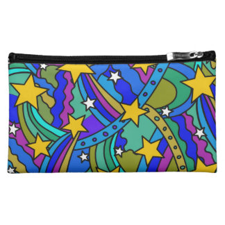 Shooting Star Hippie Pattern Cosmetic Bag