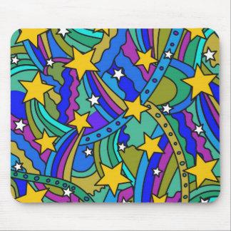 Shooting Star Hippie Pattern Mousepad