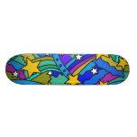 Shooting Star Hippie Pattern Skateboard Deck