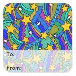 Shooting Star Hippie Pattern Stickers