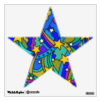 Shooting Star Hippie Pattern Room Graphics