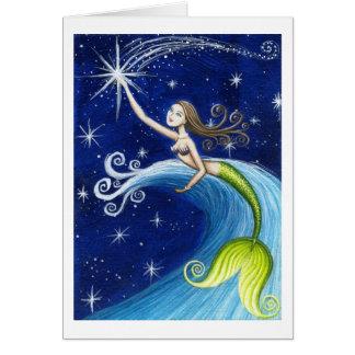 Shooting Star Mermaid Card